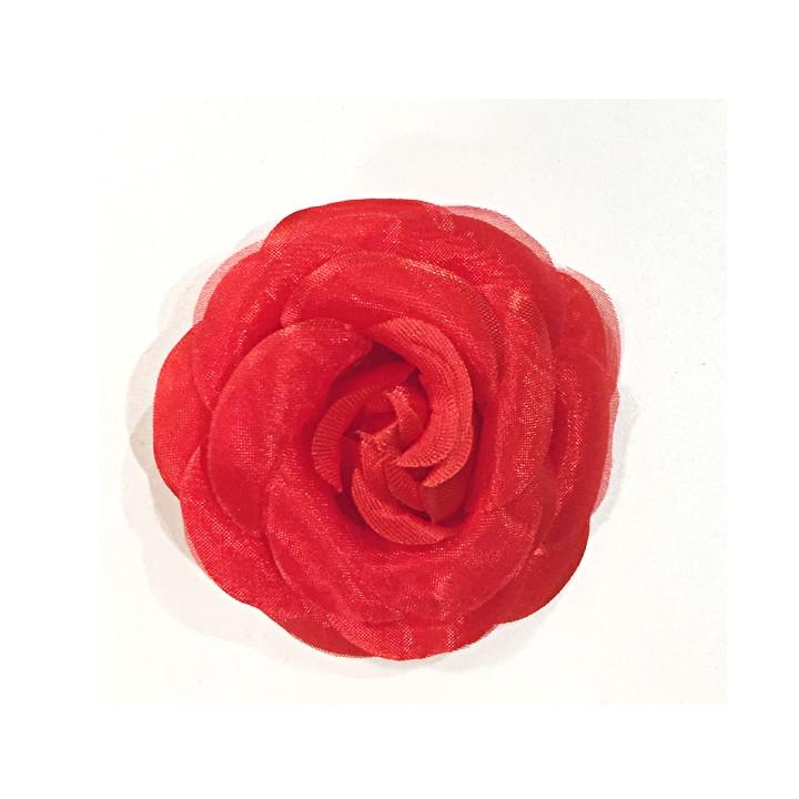 Camélia sur broche - Rouge