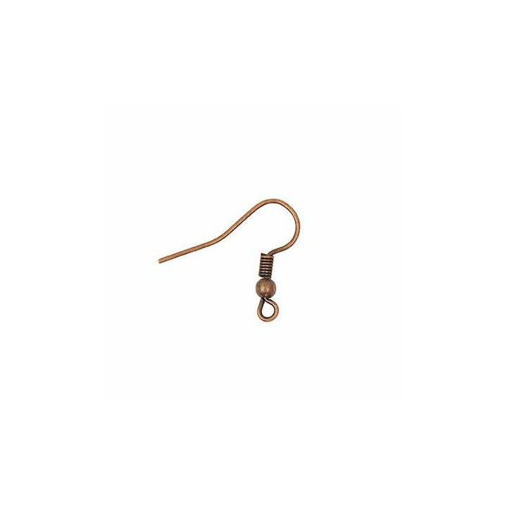 Lot de fil de boucle d'oreille avec ressort - Cuivre