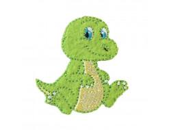 Écusson thermocollant - dinosaure vert
