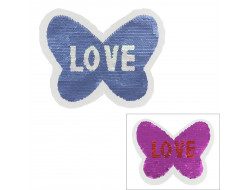 Motif paillette réversible - Papillon love