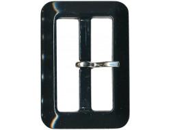 Boucle de ceinture noire 25 mm