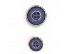 Bouton classique - bleu patiné