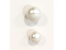 Bouton fantaisie perle - Blanche 8 et 10 mm