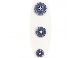 Bouton fantaisie spirale - bleu