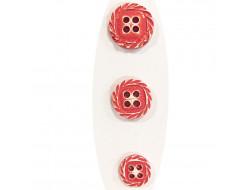 Bouton fantaisie spirale - Corail