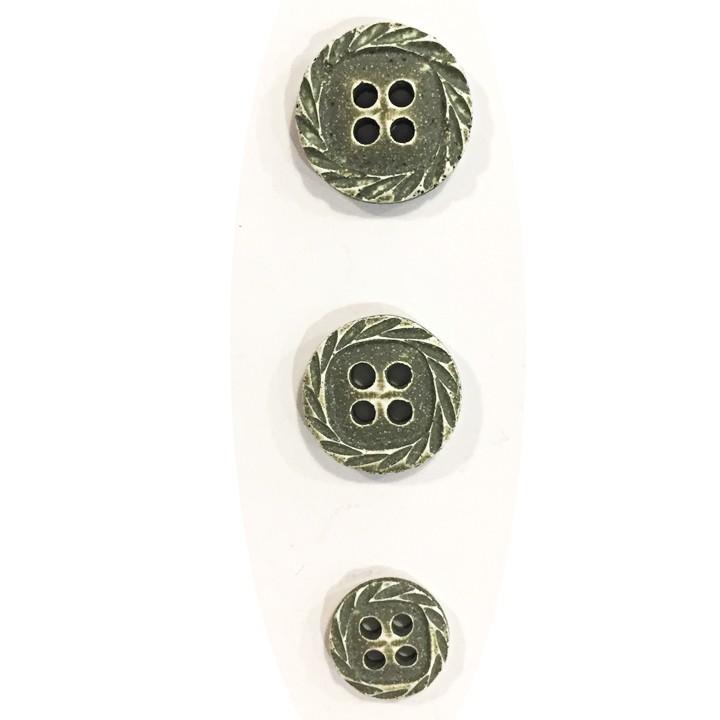 Bouton fantaisie spirale - Vert