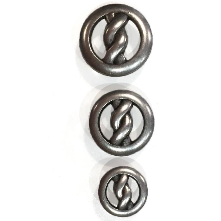 Bouton métal - Torsade