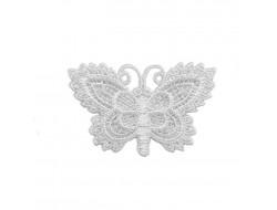 Écusson thermocollant - papillon blanc
