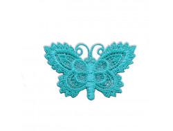 Écusson thermocollant - papillon turquoise