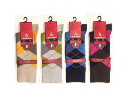 Chaussettes à carreaux - Sans couture