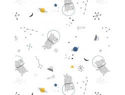 Tissu popeline - White Cosmos