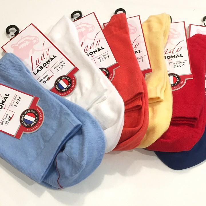 Soquettes unies - 98% Coton