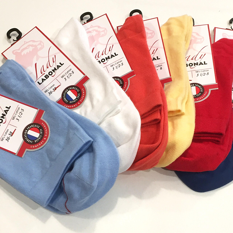 """Officiel Socquettes /""""Unifarbend-LILAS/"""" coton taille 35-38"""
