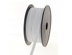Tresse élastique plate blanc - Plusieurs tailles