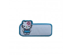 Ecusson thermocollant Hello Kitty bleu