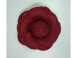 Fleur broche tissus rouge Hermes