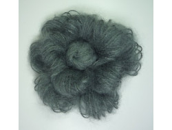 Fleur broche laine grise