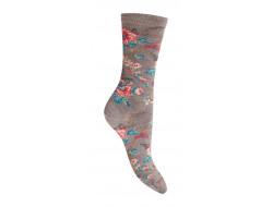 Chaussettes en laine - Fleuries