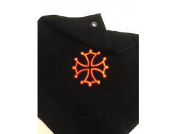 Serviette d'invité brodée - Croix occitane