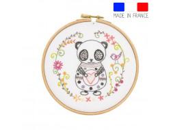 Sacha le panda - kit à broder