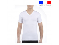 Tee-shirt Manches Courtes col V - Blanc JET