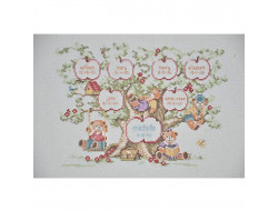 Kit broderie, Family tree Lanarte
