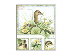 Kit broderie, Duck and ducklings - Lanarte