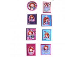 Étiquettes thermocollantes - Princesse Sofia