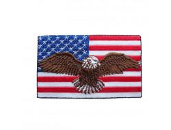 Écusson thermocollant - drapeau USA & aigle