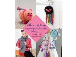 Mes créations en pompons, tricotins, tresses.