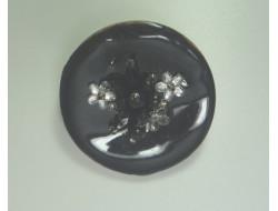 Broche coco noir