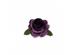 Écusson thermocollant - Fleur velours mauve