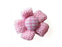 Fleur tricot - rose