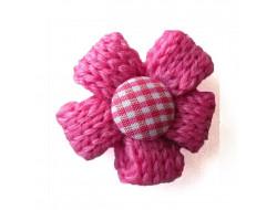 Fleur tricot - fushia