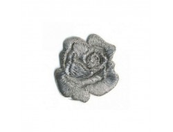 Ecusson thermocollant rose argent