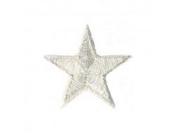 Écusson thermocollant étoile argent