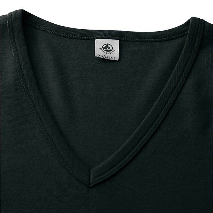T-shirt Petit Bateau - Col V ML