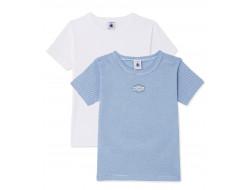 Lot 2 T-shirt Petit Bateau - Garçon
