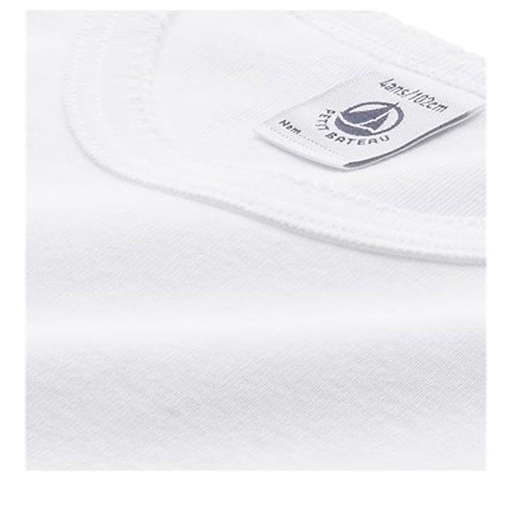 T-Shirt blanc Petit Bateau - Manches longues