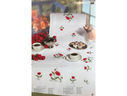 Kit de broderie - Chemin de table Coquelicots