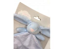 Doudou lapin bleu - OMNIUM