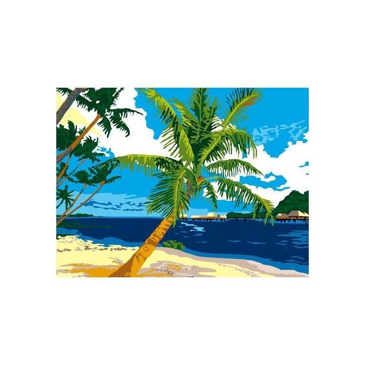 Kit canevas - Plage tropicale