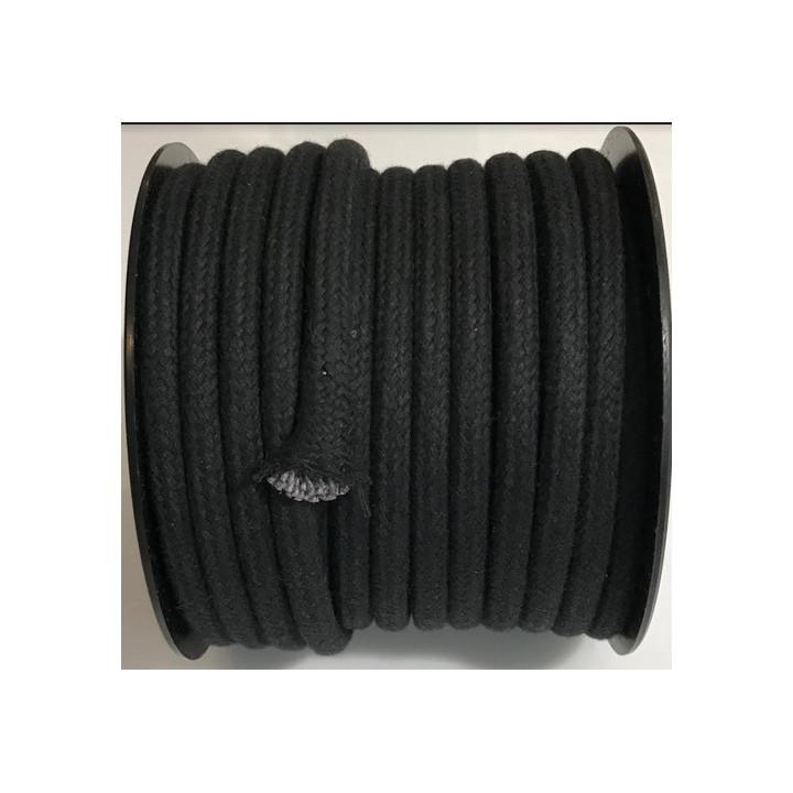 Cordon de coton - Noir
