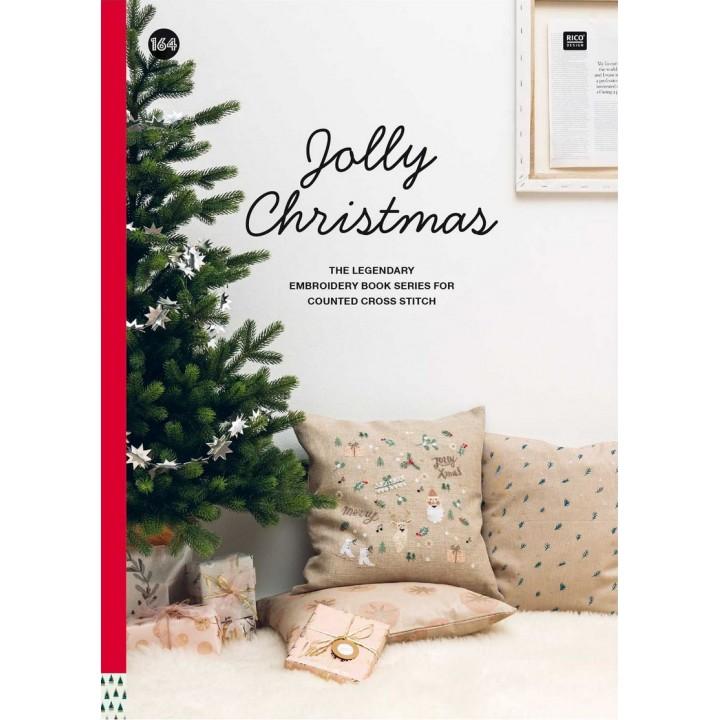 164 - Livre point de croix Jolly Christmas, RICO