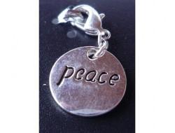Pendentif rond Peace argent