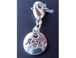 Pendentif rond Angel argent