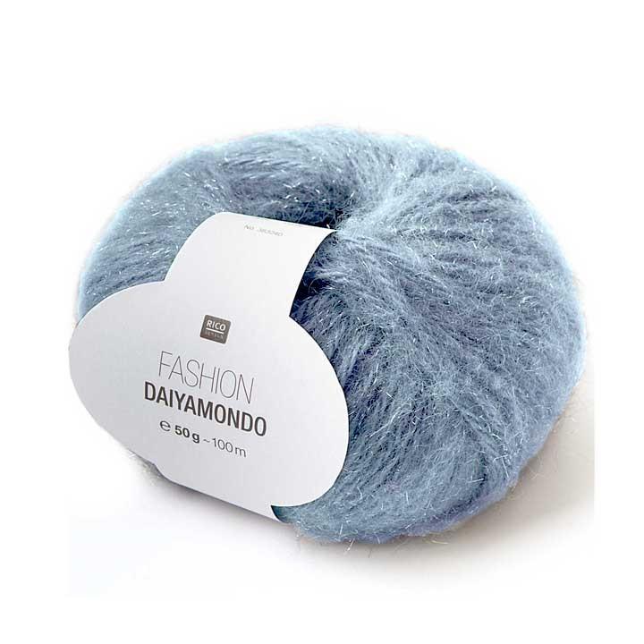 Fil Fashion Daiyamondo - 35% acrylique, 30% polyamide, 5% laine métallique - Rico