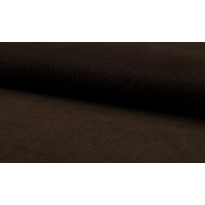Tissu velours milleraies marron