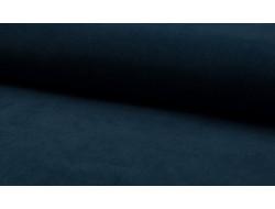 Tissu velours milleraies bleu pétrol