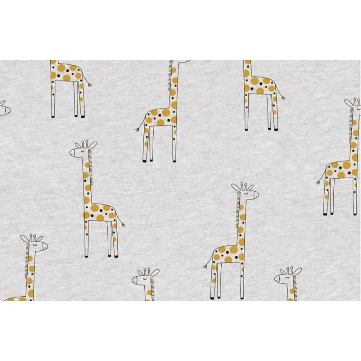Tissu jersey - Girafe